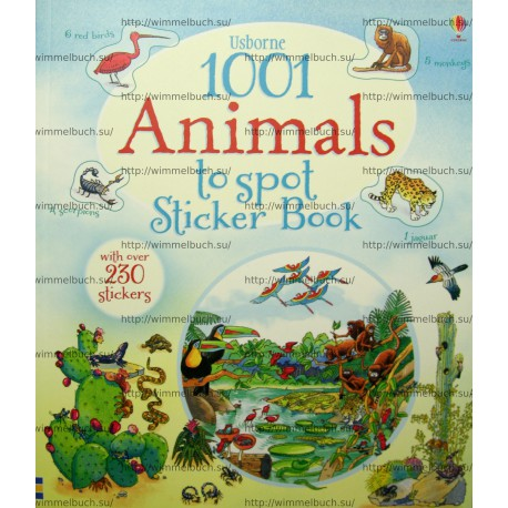 1001 Animals to Spot Sticker Book (Kartoniert)