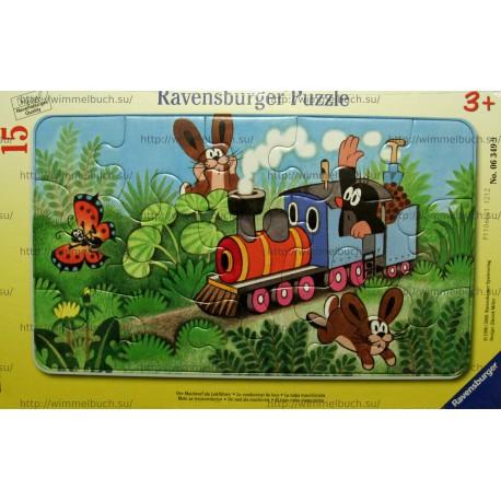 """Пазл в рамке RAVENSBURGER """"Кротик машинист поезда"""""""