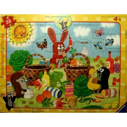 Пазл в рамке RAVENSBURGER - Кротик на пикнике