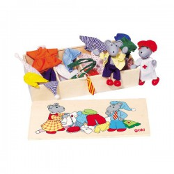 Куклы мышки с комплектом одежды Biegepuppen Mause Lia & Luca