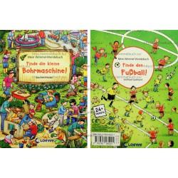 Mein Wimmel-Wendebuch - Finde die kleine Bohrmaschine! / Finde den Fußball!