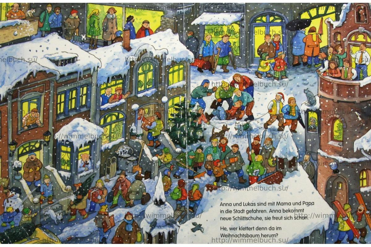 Wimmelbuch Weihnachten.купить Mein Kleines Wimmelbuch Weihnachten Abbildung Vergrobern