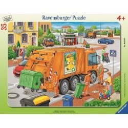 Mullabfuhr. Rahmenpuzzle 35 Teile