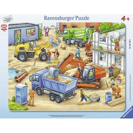Grobe Baustellenfahrzeuge