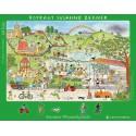 Wimmel-Rahmenpuzzle Sommer. Motiv Stadtpark